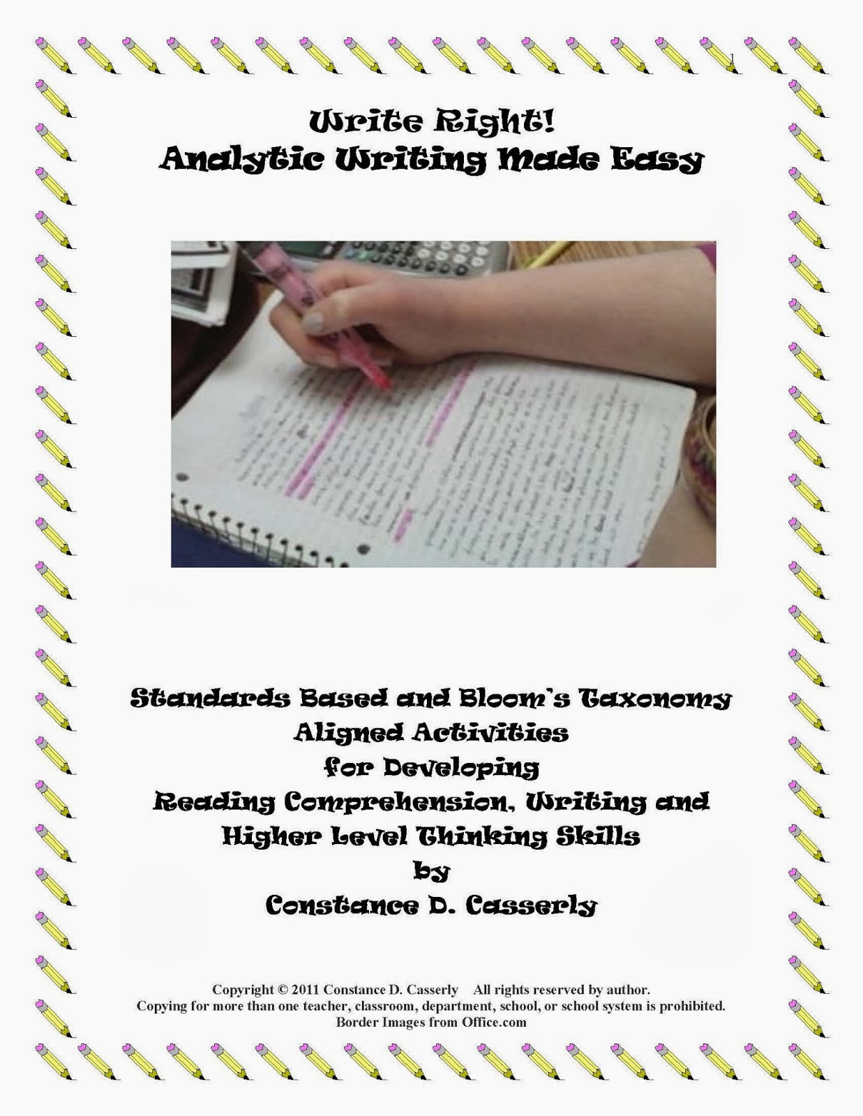 Write Right! Analytic Writing Made Easy cover