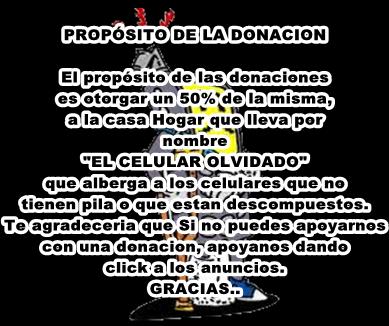 Propisito de la donacion