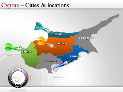 Map of Cyprus Region Country