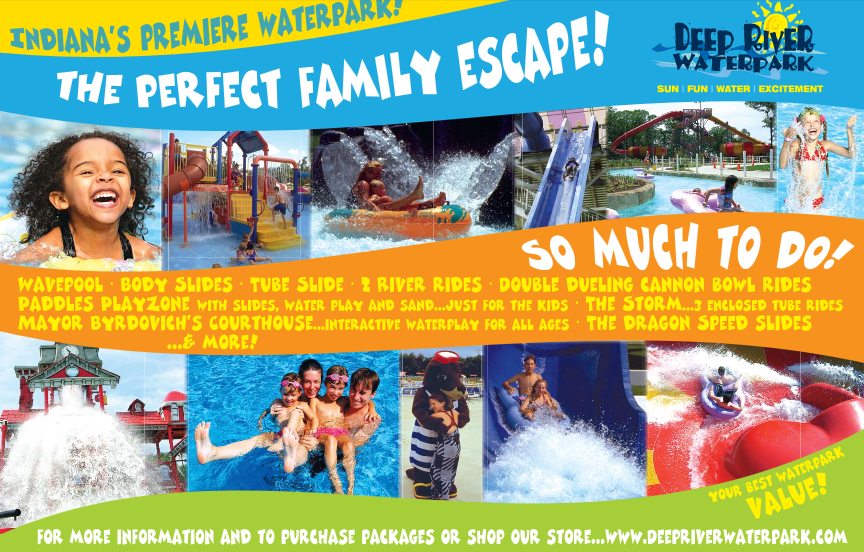 WIN ($119.80 Value) Family 4 Pack of Tickets to Deep River Waterpark & 4 $5 Food/Beverage bands