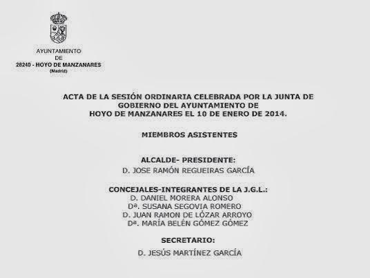 Acta de la Junta de Gobierno Local 10-Enero-2014