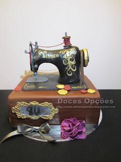 Bolo de aniversário Máquina de costura