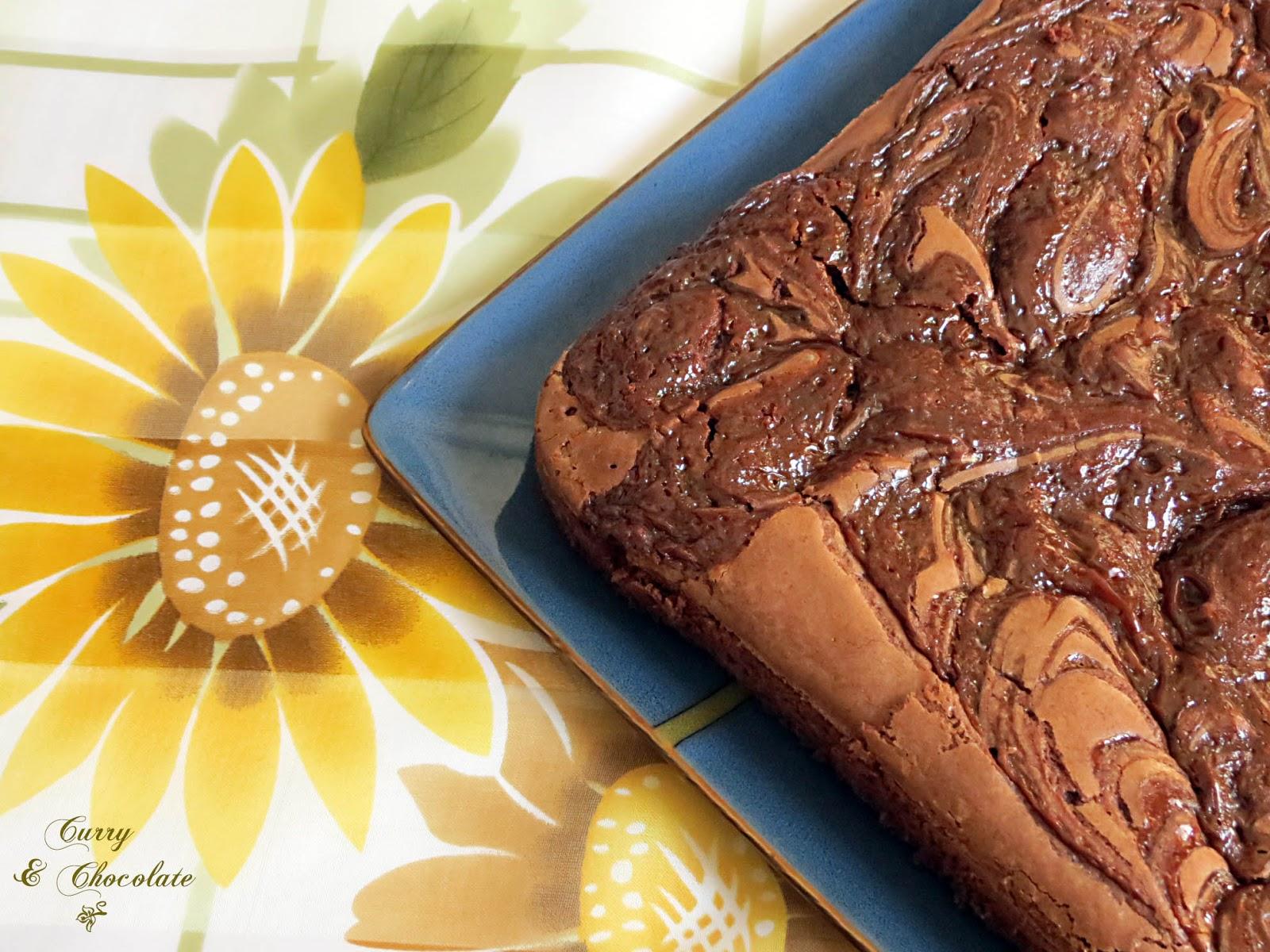 Brownies de chocolate con dulce de leche – Dulce de leche brownies
