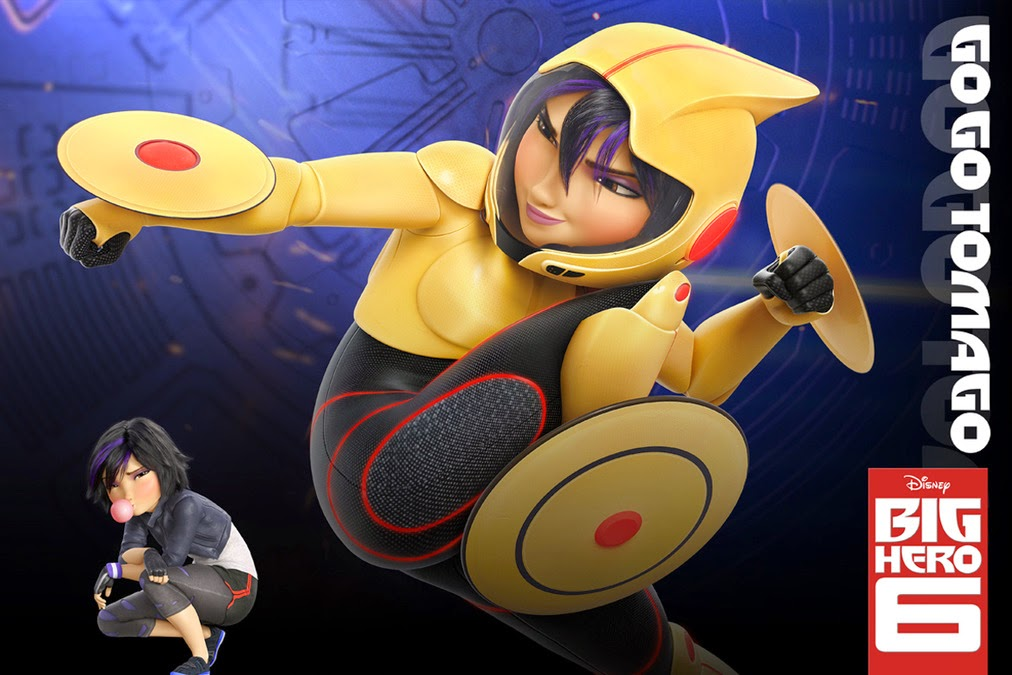 Gambar Big Hero 6 Gogo Tomago Marvel Walt Disney Animasi Lucu Keren