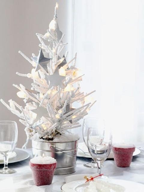 Decoração De Árvore De Natal Branca E Prata – Design Innova~ Decoracao Arvores De Natal Branca