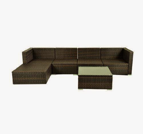 Sale f 47% Outsunny Deluxe Outdoor Patio PE Rattan Wicker Sofa Sectional Fu