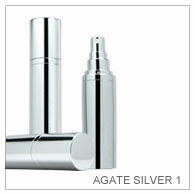 Agate Silver 1 | Cosmetic Container | Metal Cosmetic Bottle