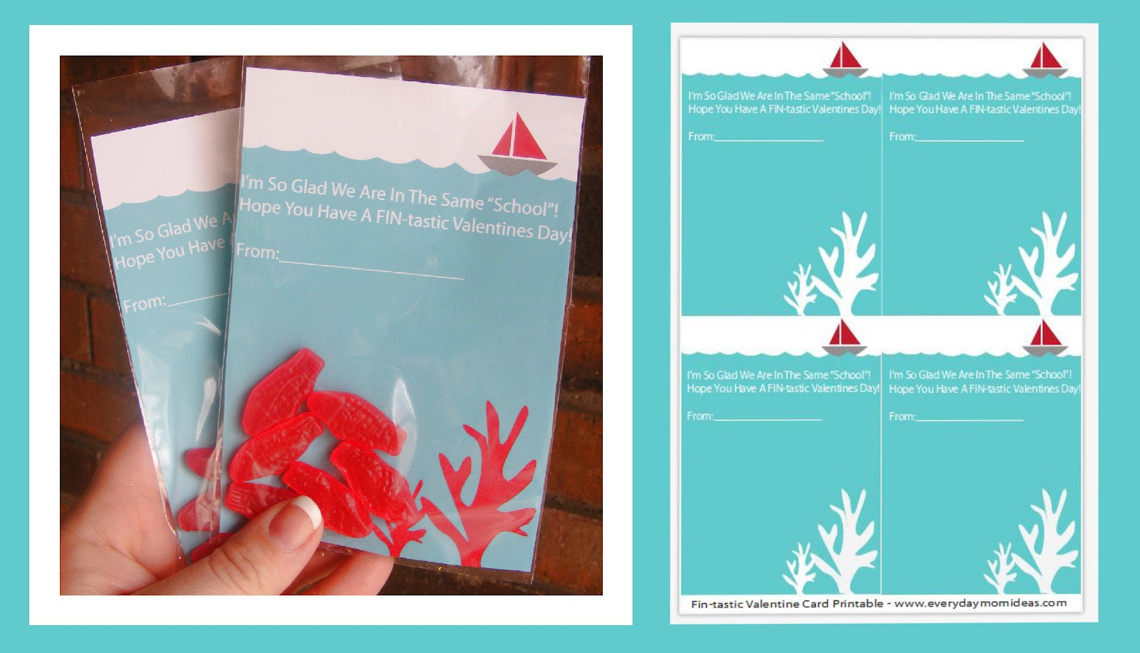 Fin Tastic Valentine Card Printable Free Everyday Mom Ideas