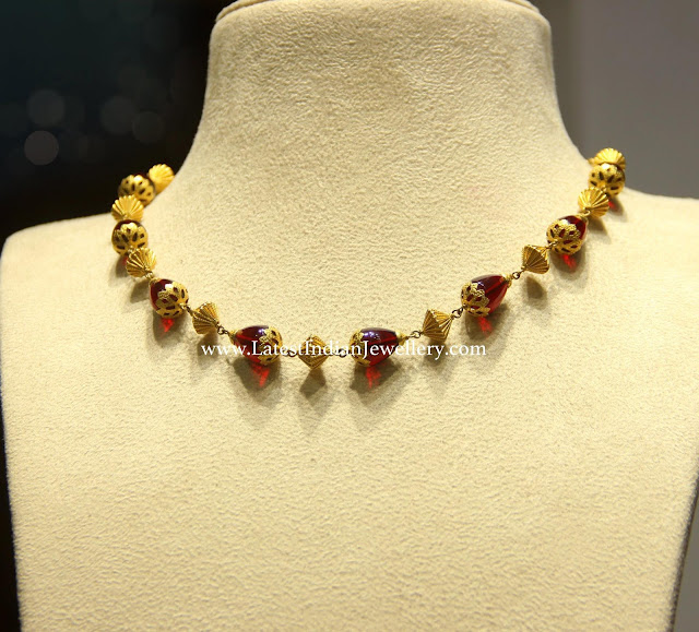 Tourmaline Beads Neck Chain
