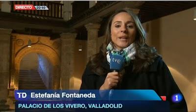 Reportera de TVE Estefanía Fontaneda