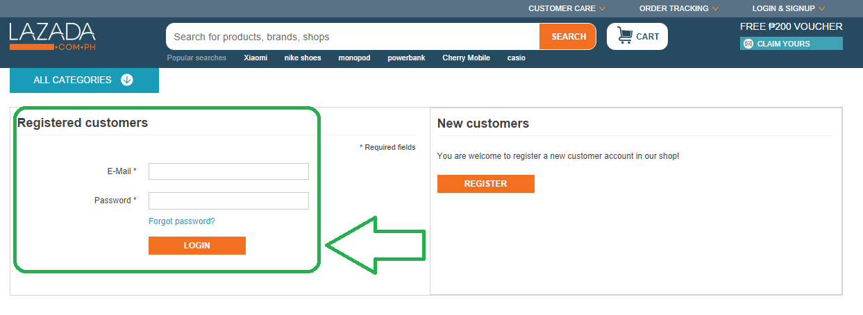 Redmi 1s registration for existing Lazada customers