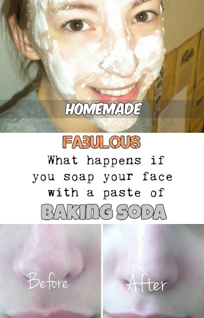 Fabulous! What happens if you soap your face with a paste of baking soda