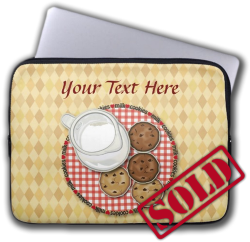 Sold! Customizable Milk and Cookies Computer Sleeves by Tees2go