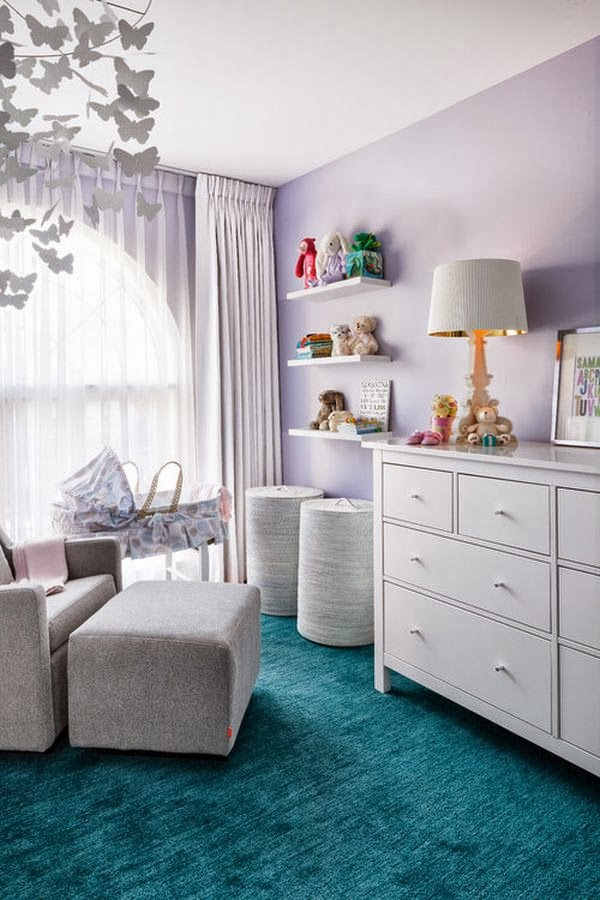 Dormitorios de bebé en tonos lavanda