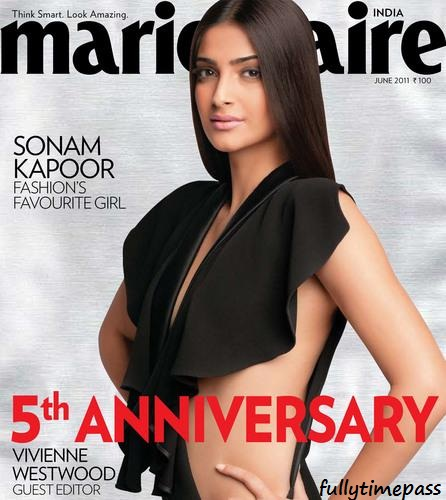 Sonam Kapoor  - Hot Sonam Kapoor on the cover of Marie Claire June 2011 issue