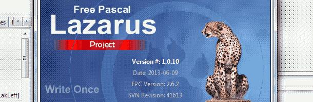 Lazarus freepascal 1.0.10