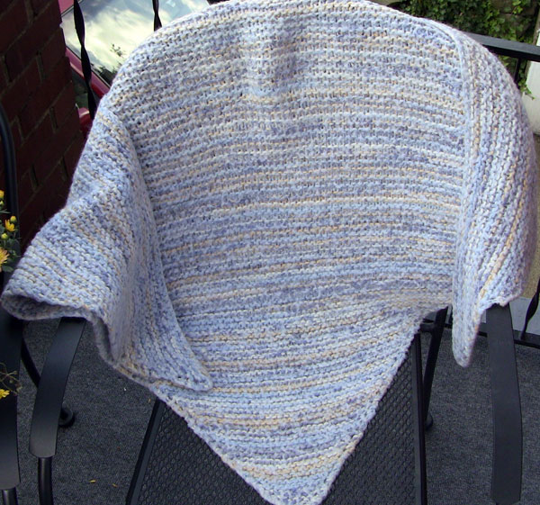 Knit A Triangle Shawl Bottom Up