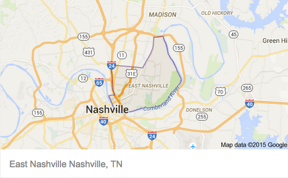 East Nashville 37216 Neighborhood Map Locations