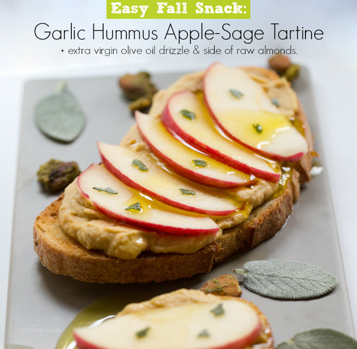 Hummus-Apple Tartine: Easy Fall Snack. (plus it's moving day!)