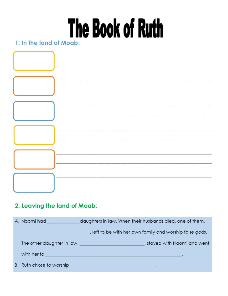 ruth and boaz activity sheets pictures to pin on pinterest thepinsta