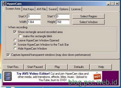 HyperCam, software Perekam Desktop Gratis Pengganti Camtasia