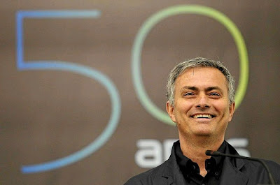 Jose Mourinho at Setubal attending an exhibition about his 50th birthday