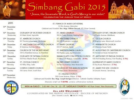 Simbang Gabi - Diocesan of Metuchen