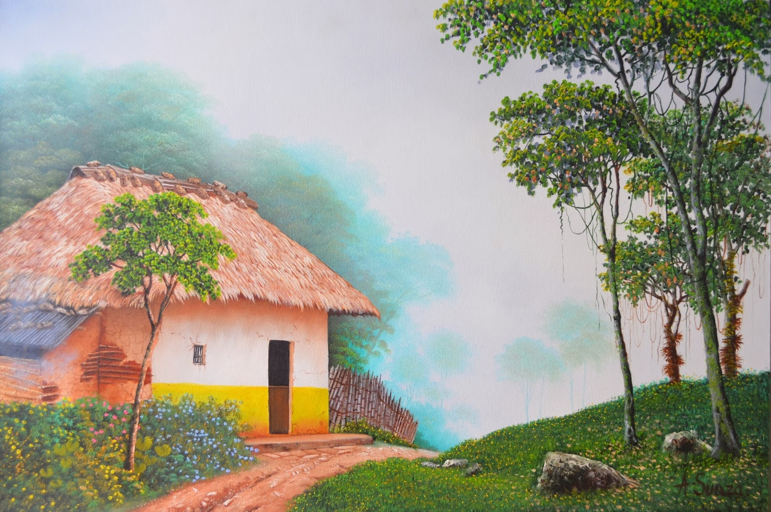 Cuadros modernos pinturas y dibujos maravillosos cuadros - Cuadros de casas de campo ...
