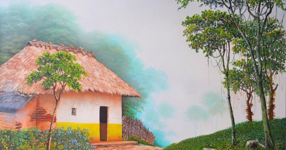 Cuadros modernos pinturas y dibujos maravillosos cuadros - Paisajes de casas de campo ...