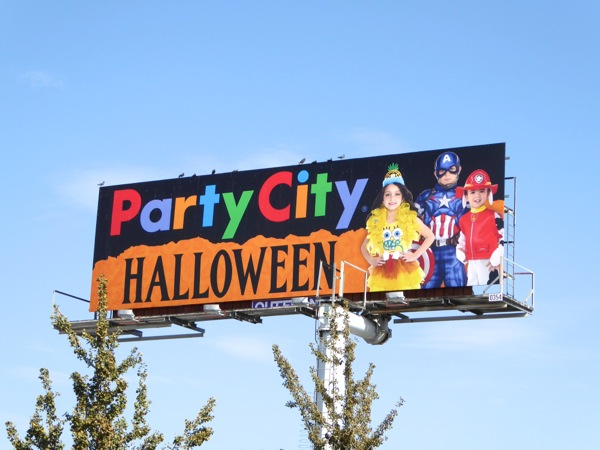 Party City Halloween billboard