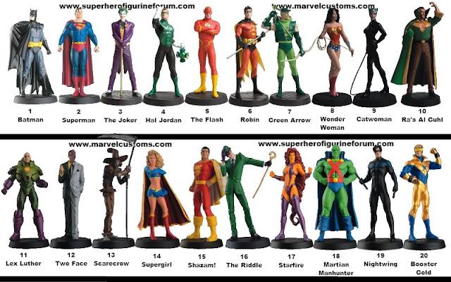 ... : Coleção de Miniaturas DC - Lista de Personagens - Atualizado