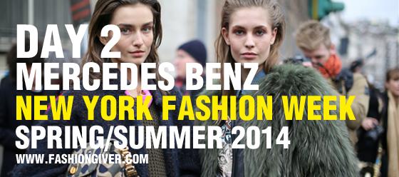 New York Fashion Week Spring 2014 Day 2