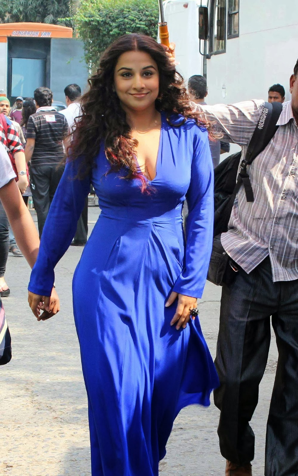 Vidya balan spicy hot Melons In Tight blue dress