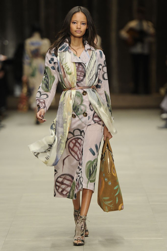 Malaika Firth Burbery Prorsum Autumn Winter 2014 collection London fashion week