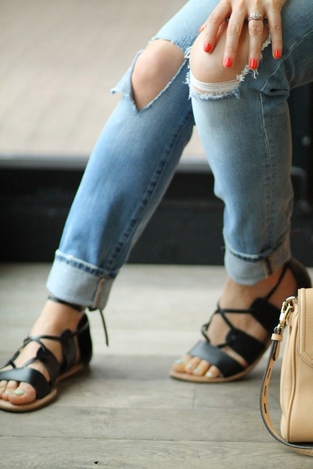 blank, denim, good, vibes, lace, up, sandals, old, navy, gladiators