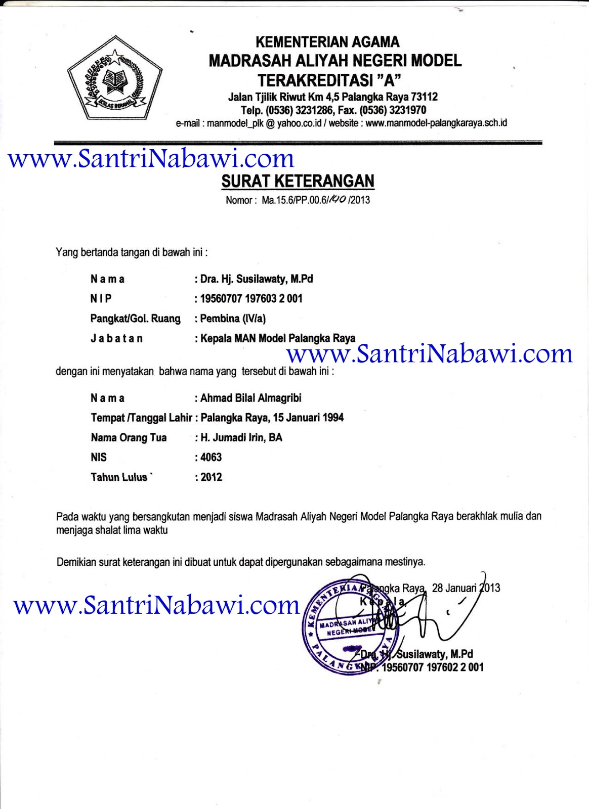 Contoh Rekomendasi Kuliah Di Arab Saudi Santri Nabawi