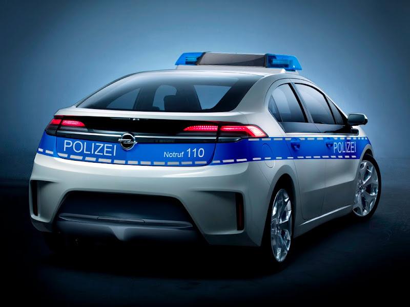 Opel Ampera EV Police Cruiser Car Revealed