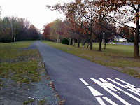 A photo of the bike path from last fall.  This is the Round Lake trailhead, near Exit 11 of the Northway.  The Saratoga Skier and Hiker, first-hand accounts of adventures in the Adirondacks and beyond, and Gore Mountain ski blog.