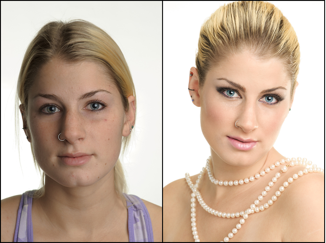 Wedding Day Makeup Before And After : Day 7: Bridal Makeup Crystals Spa and Salon