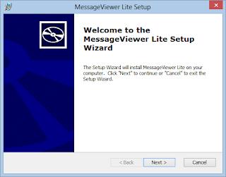 MessageViewer Lite .eml viewer installer screen 1