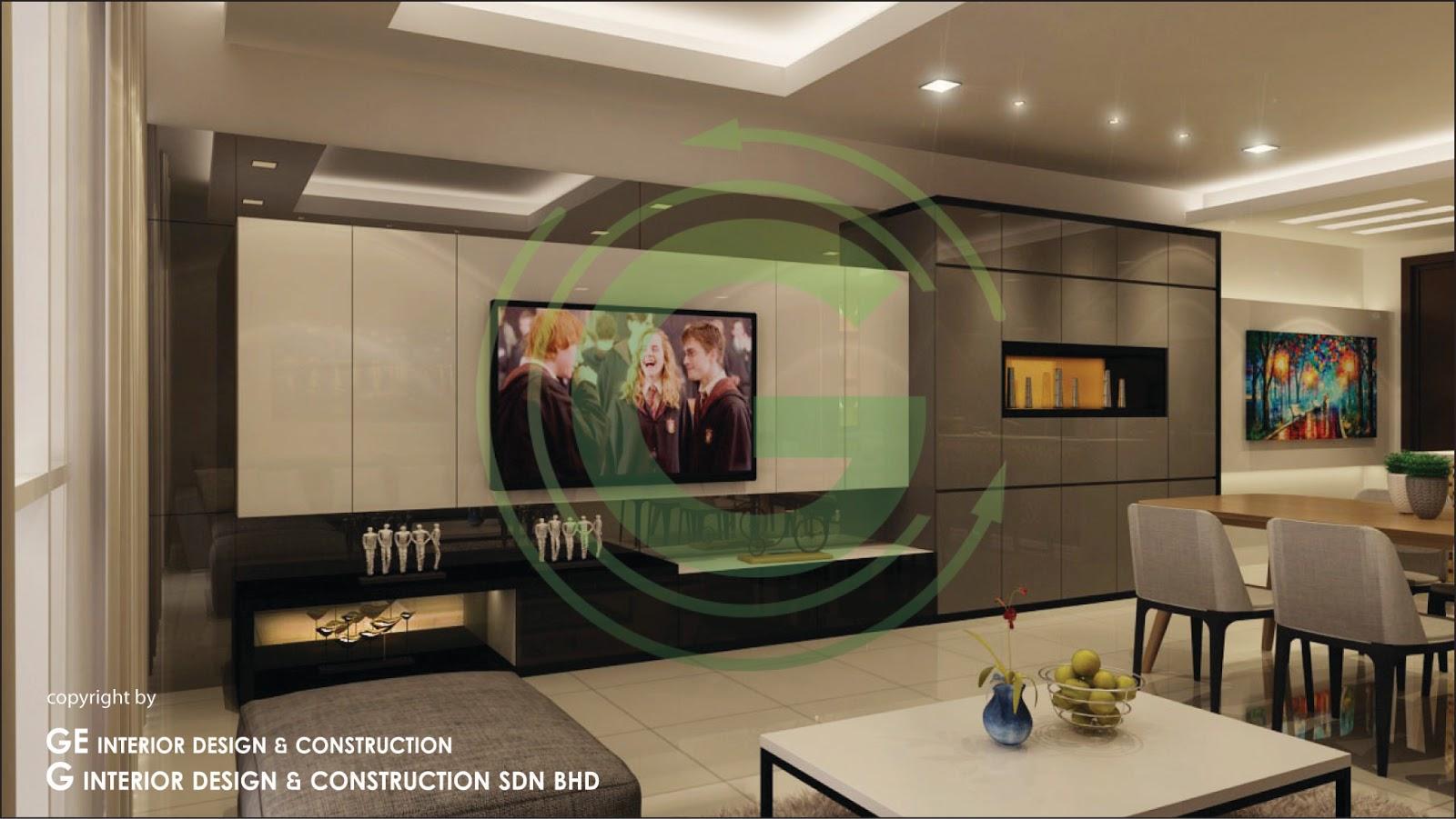Seringin residency kl 3d view for Living hall