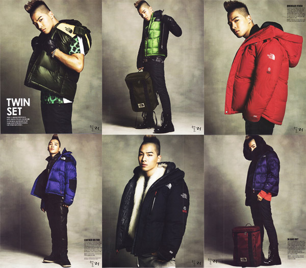 Taeyang  Photos Taeyang-Singles-Magazine-North-Face