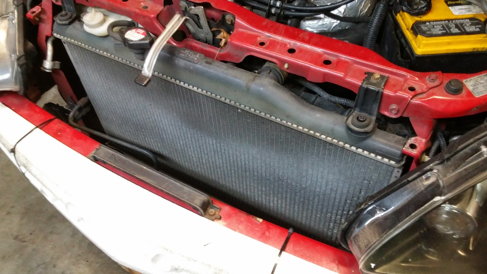 LexiLaron DIY AC Delete On Acura RSX TypeS - Acura rsx radiator