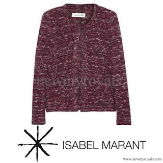 Crown Princess Mary Style  ISABEL MARANT Purple Ariana Jacket