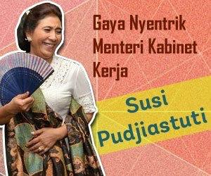 Foto Terbaru Gaya Busana Bu Menteri Susi Pudjiastuti