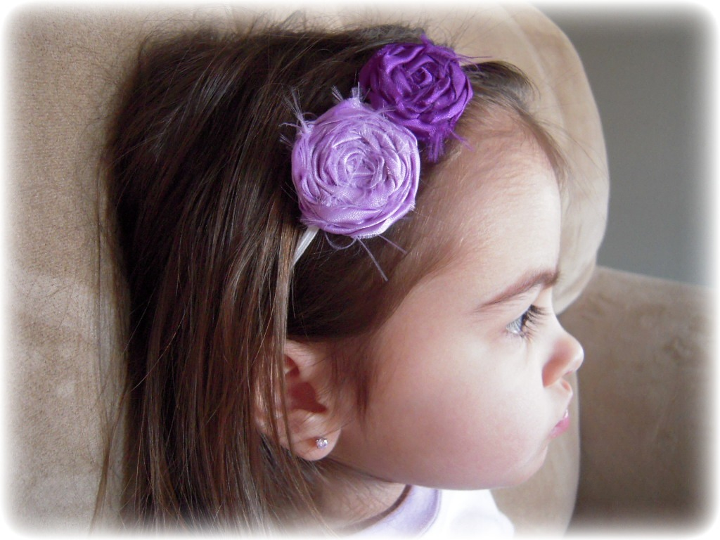 A Turner Designs Satin Flower Skinny Headbands graphy Props