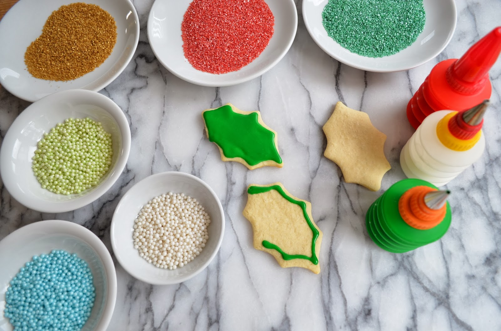 Christmas cookies - decorating.