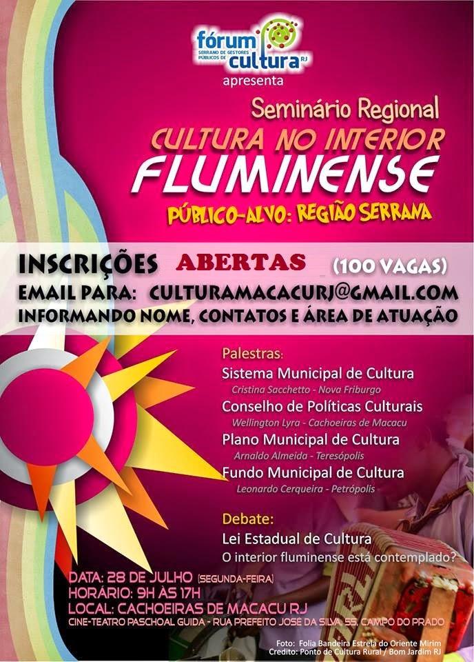 Teresópolis participa do Seminário Cultura no Interior Fluminense