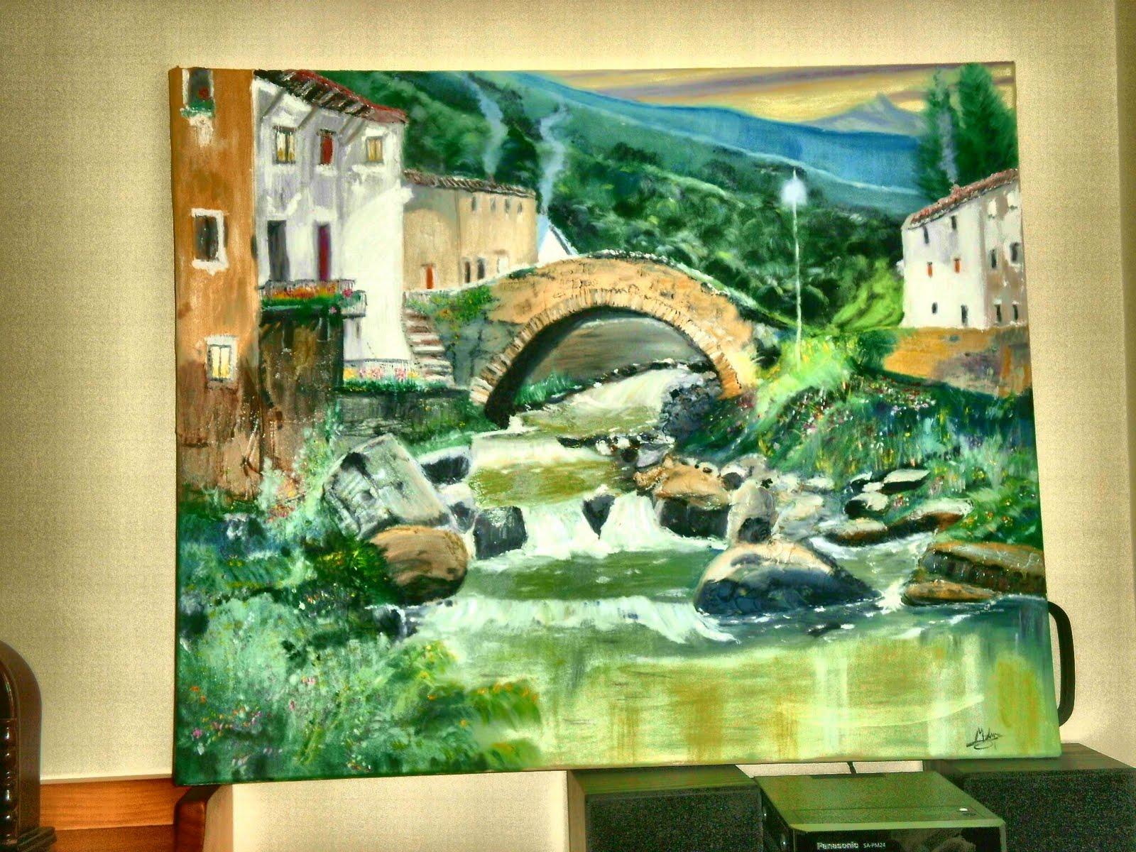 Un trabajo relajante lienzo paisaje sin enmarcar - Enmarcar lienzo ...
