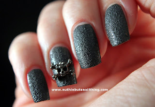 leather look skull nails